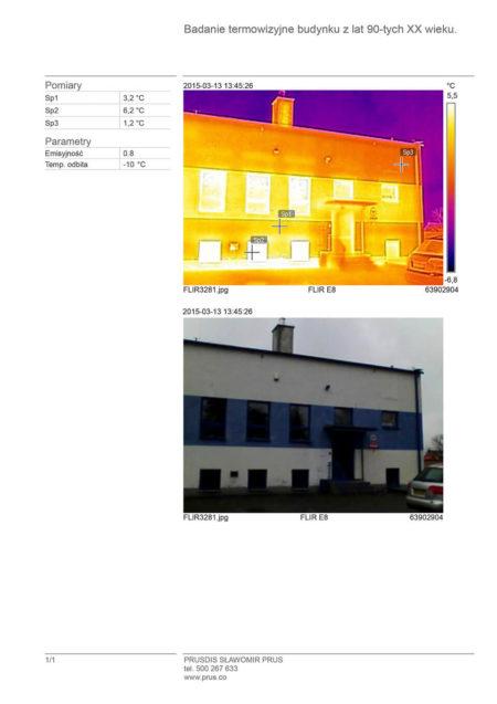 badanie termowizyjne budynku