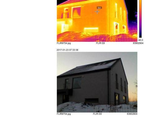 termowizja elewacji budynku