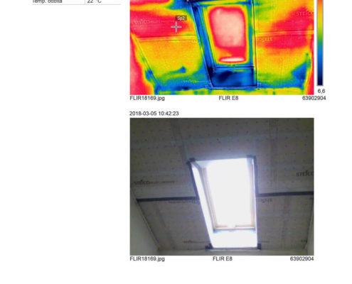 termowizja okna dachowego