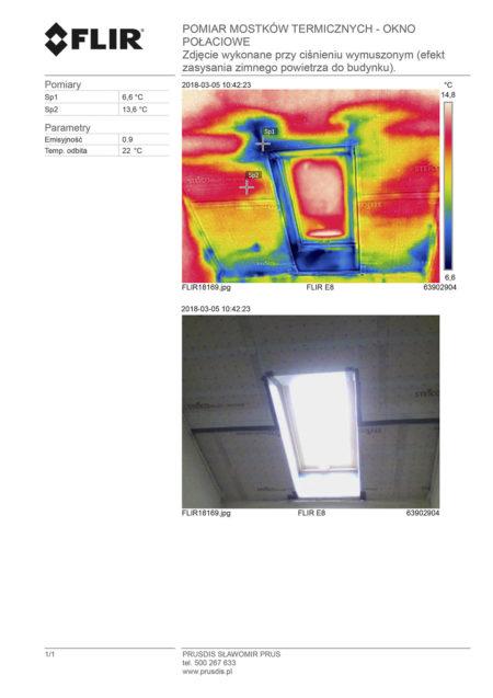 termowizja - okno dachowe