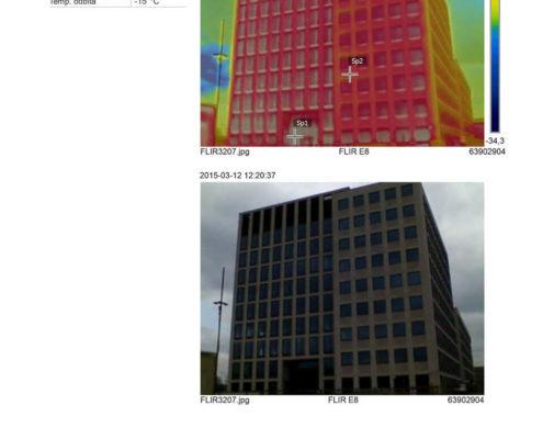 termowizja budynku