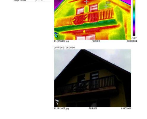 termowizja domu jednorodzinnego