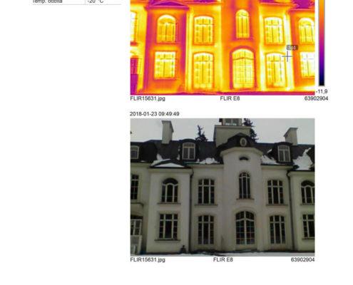 termowizja budynku zabytkowego