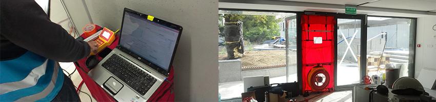 Blower door test - pomiar szczelności budynku
