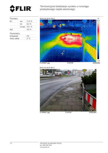 badanie kamerą termowizyjną miejsca przecieku